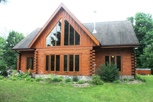 log home inspected by done right home inspections in south eastern Ontario.