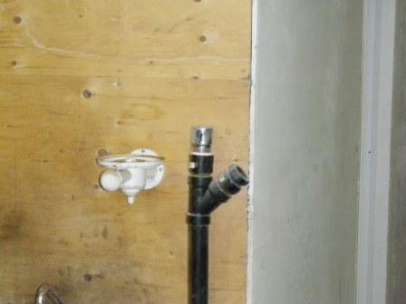 Photo of what is commonly referred to as a cheater vent ala a draw vent in the plumbing trade. I found this in a commercial building I inspected north of Orillia and not far from Gravenhurst. This type of vent is not  CSA  approved in fact it states this and it states for recreational vehicle use only. It is meant for campers and trailers, not for residential or commercial buildings. It will fail and in the meantime it does only half the job and in use within buildings it can be dangerous