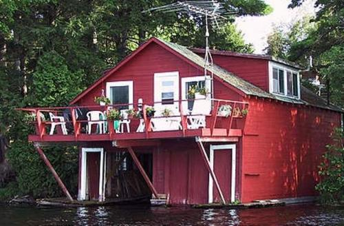 Boat house  with living space very like those found on Lake Muskoka in the Port Carling and Bala areas