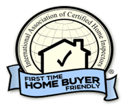 When having a home or cottage inspection in Muskoka, Gravenhurst, or Orillia, first time home buyers can be assured by this  InterNACHI symbol  our home inspectors are willing to take extra time during a home inspection to answer questions and explain issues for first time home buyers.