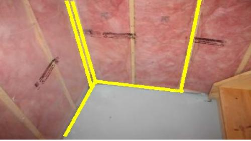 During a home cottage or commercial inspection in the Orillia, Gravenhurst,Bracebridge and Muskoka area we often find improperly installed vapour barrier . Or