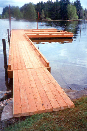 new wood deck l shaped floating dock; These type